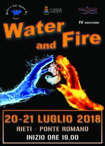 WATER AN FIRE 2018 COPERTINA ultima